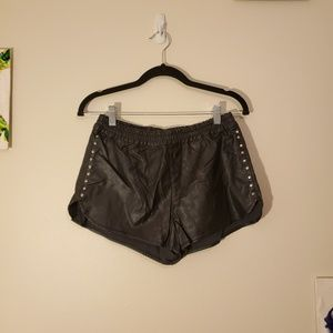 Forever 21 - Pleather & Studs Booty Shorts